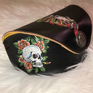 Ed Hardly Sun glasses case Excellent Condition